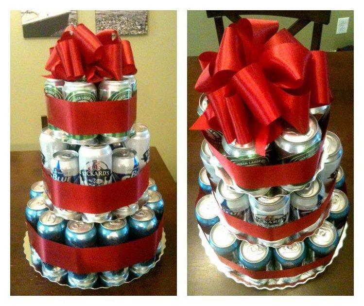 Как сделать подарок из бутылок пива 87