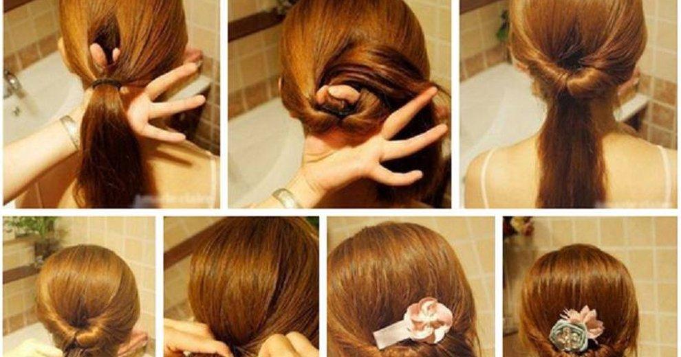 Прически на средние волосы фото своими руками на каждый день пошаговое фото 30