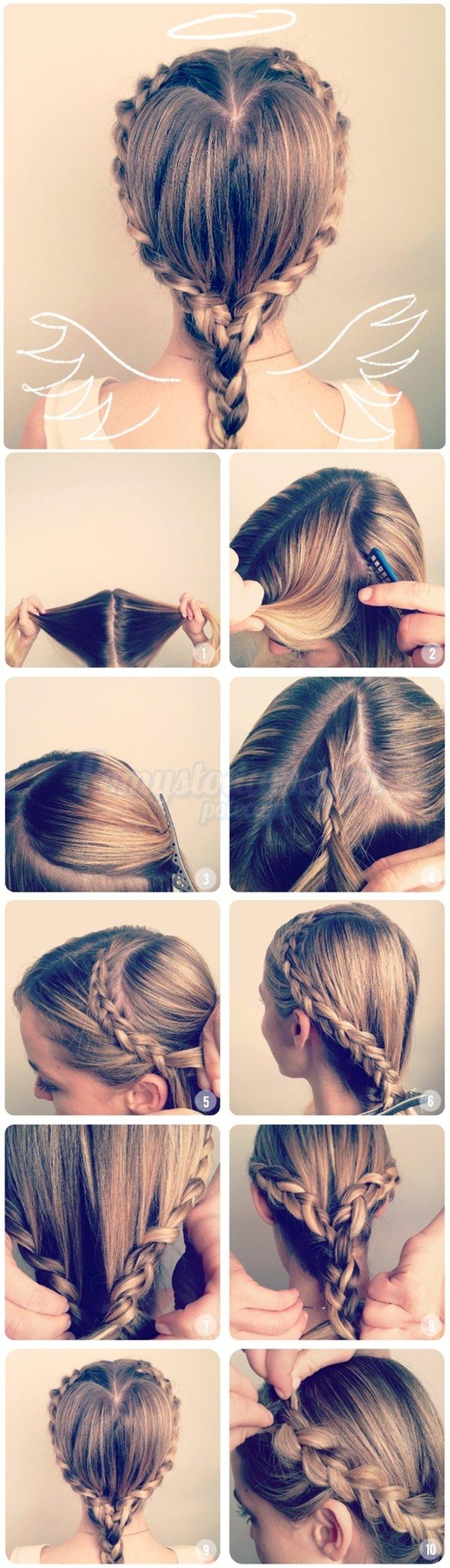 Быстрые прически для девочек в школу на длинные волосы красивые