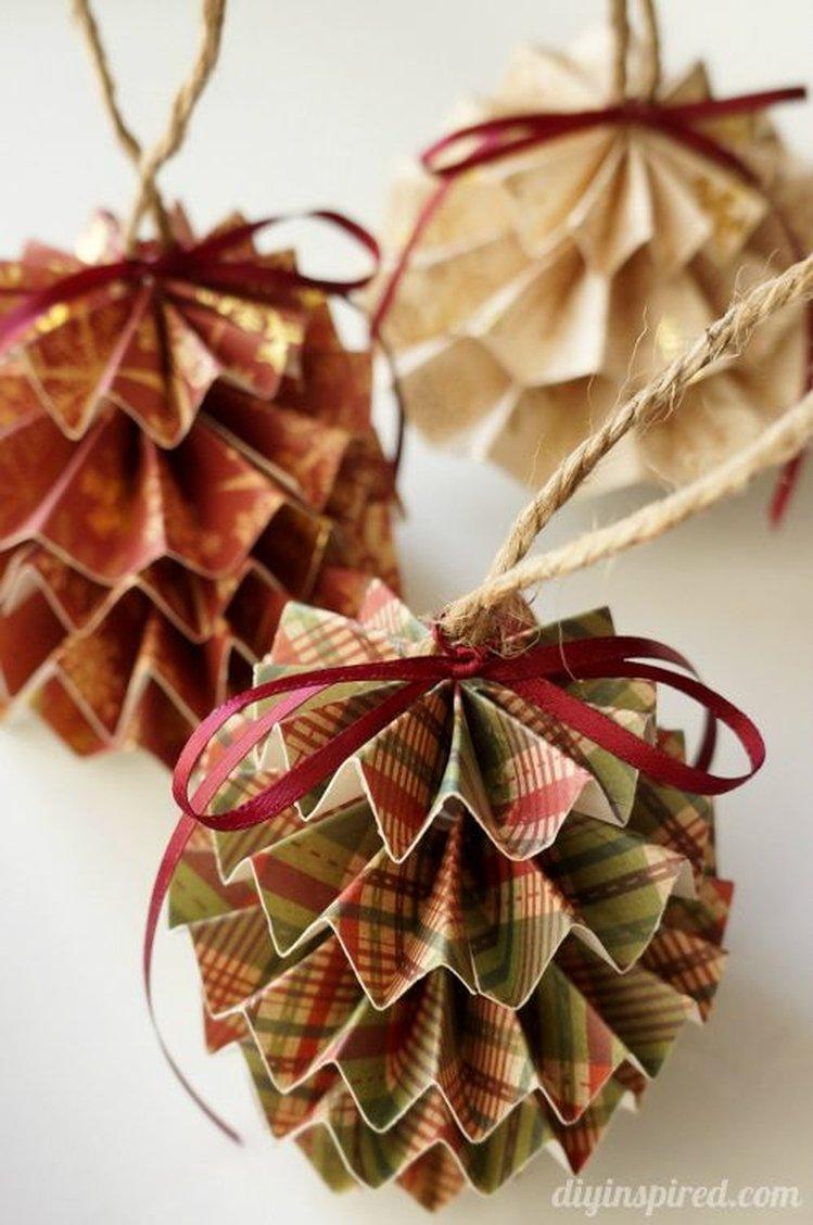 Новогодние украшения из бумаги своими