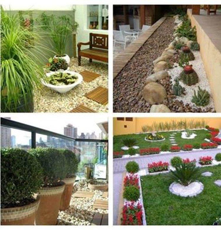 Ландшафтный дизайн двора частного дома фото поделки 19