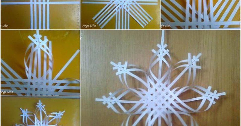 Обьёмные снежинки из бумаги своими руками