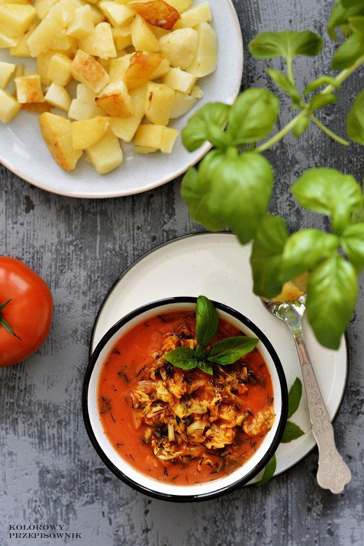Zupa Z Kapusty Wloskiej W Pomidorach Szybka Lekka