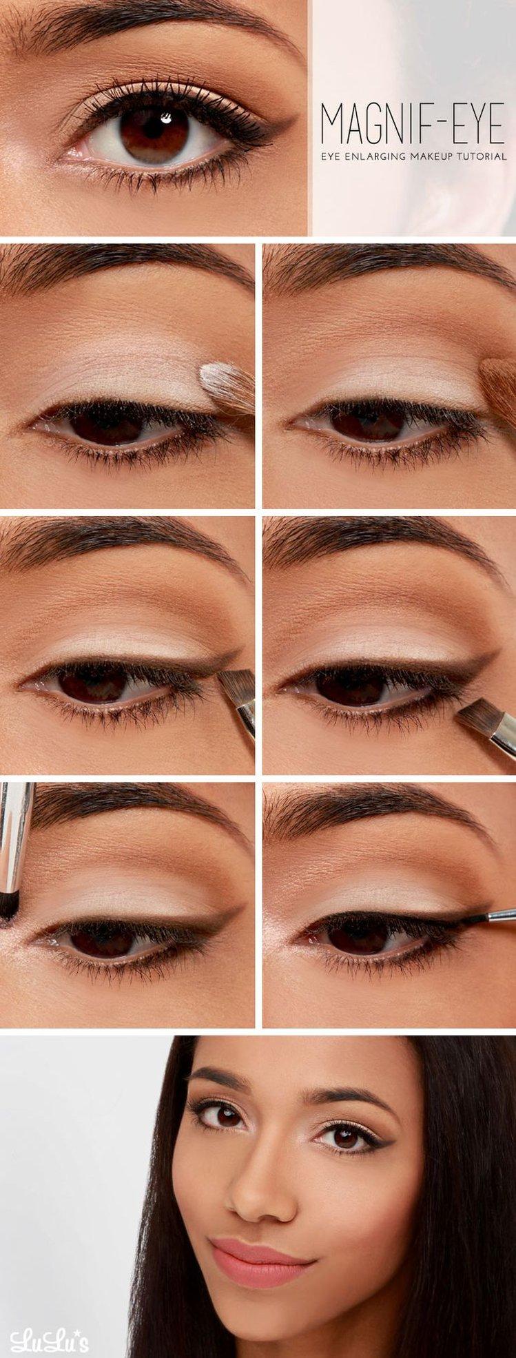 Макияж для нависшего века и увеличения глаз