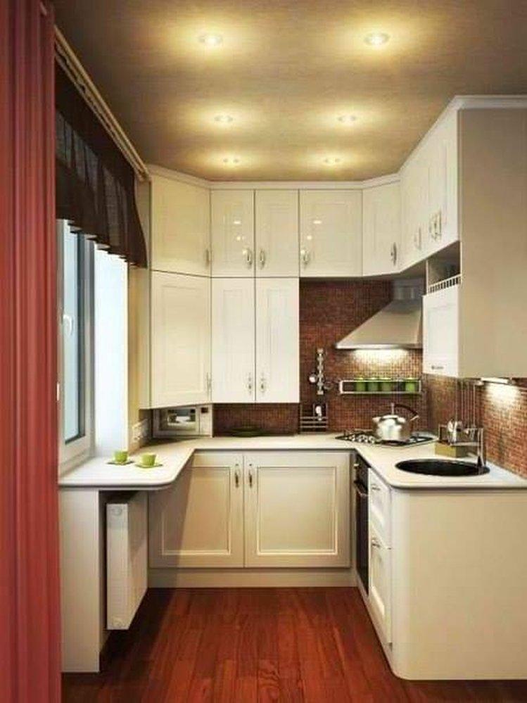 """Стильная интересная кухня маленького размера"""" - карточка пол."""