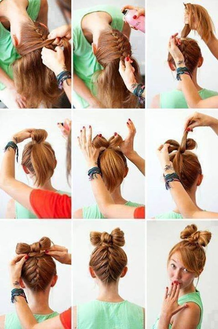 Красивые причёски на средние волосы фото поэтапно в школу