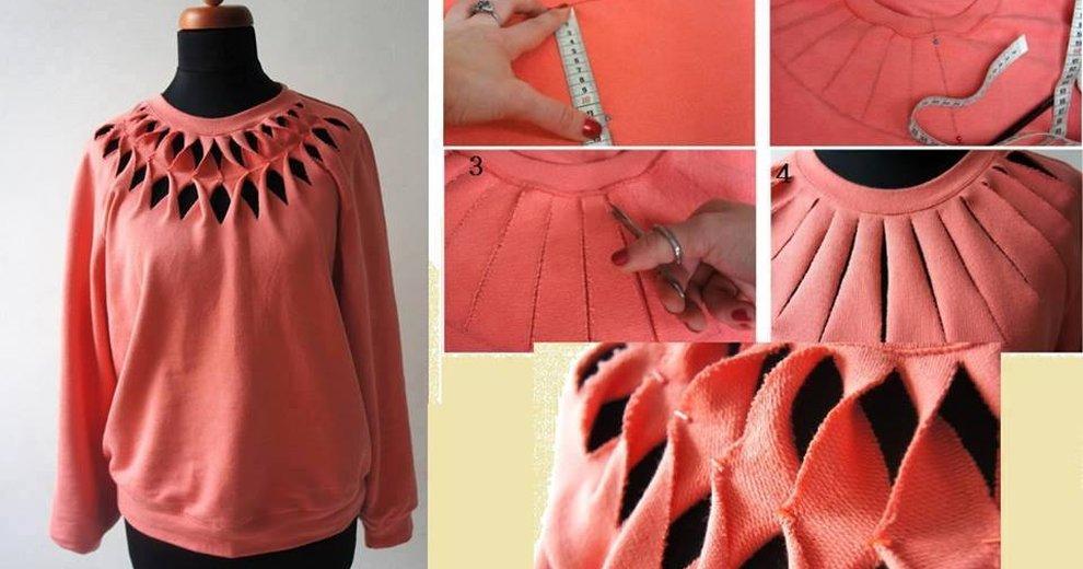 Обновляем одежду своими руками : Идеи переделки блузок, футболок, рубашек