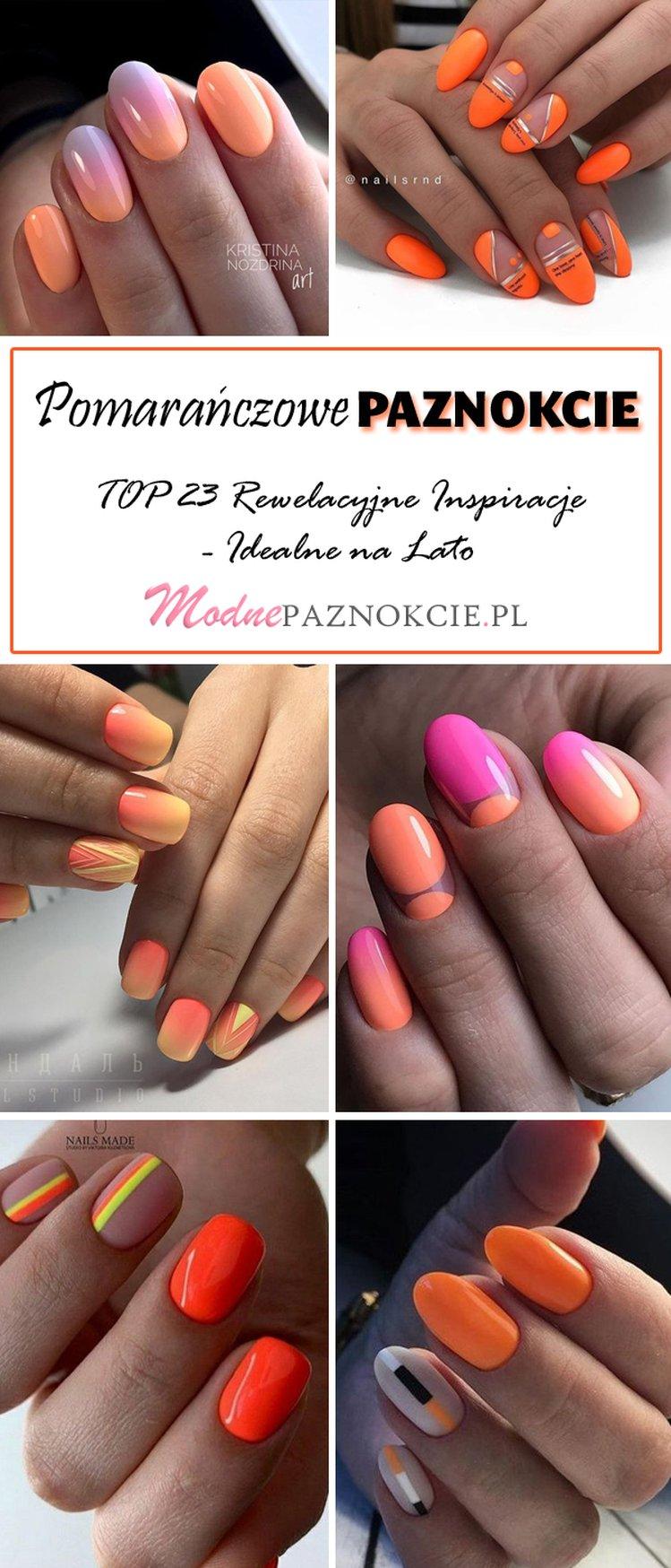 Manicure Pomarańczowy