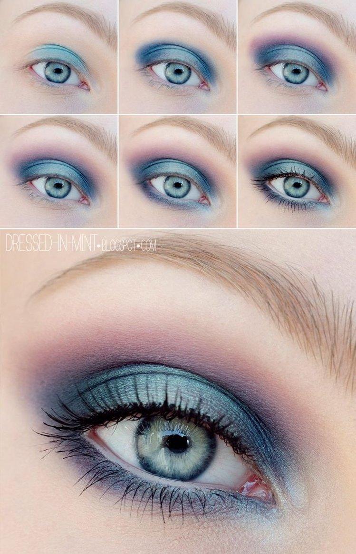 Смоки айс для синих глаз пошагово